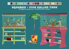 Girl Meets Pixels CC Finds & Inspo — poppet-sims: Aquabox - Five Gallon Tank Base game.