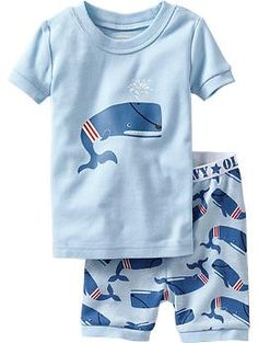 Whale PJ Sets for Baby