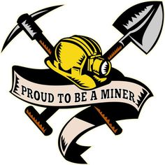 Miner Skull With Shovel And Pickaxe Vinyl Decal Sticker