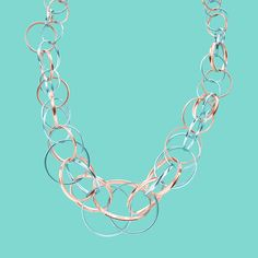 Tiffany 1837™ interlocking circles necklace in RUBEDO® metal and sterling silver. #TiffanyPinterest