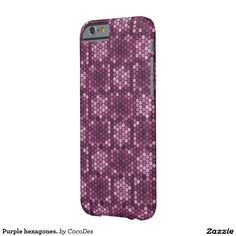 Purple hexagones. barely there #iPhone6 case #zazzle http://www.zazzle.com/purple_hexagones_barely_there_iphone_6_case-179058927408136568