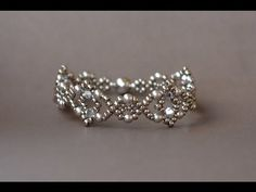 Sidonia's handmade jewelry - Losange Bracelet - Beading tutorial - YouTube