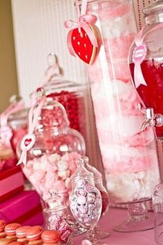 Valentine ideas for apothecary jars