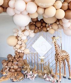 Safari Birthday Party, Baby Party, Baby Birthday, Baby Shower Parties, Baby Shower Themes, Baby Boy Shower, Baby Shower Decorations, Birthday Parties, Baby Shower Balloons