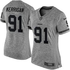 Nike #Redskins #91 #Ryan #Kerrigan Gray Women's Stitched NFL Limited Gridiron Gray…