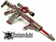 We just love the look of this rifle from - Here's the completed rifle that was done in our 'Boneyard' finish using Firearm Coatings. This rifle was built using: The Jack Lower Receiver Upper Custom Ar15, Custom Guns, Weapons Guns, Guns And Ammo, Ar Rifle, Ar 15 Builds, Hunting Guns, Cool Guns, Pinstriping
