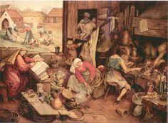 Pieter Breughel (1525-1569)  The Alchemist, 1558.