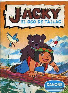 Álbum de cromos de Jacky, el Oso de Tallac, lo hicimos entero entre las tres, todavía tengo cromos guardados.