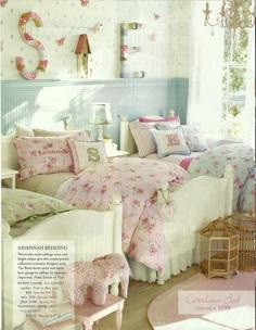 "Love love love the ""Savannah"" bedding from Pottery Barn Kids."