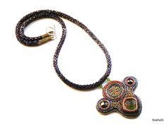 art, crafts and beads: Necklace with Ammolite