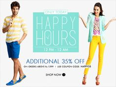 Free ki deals: 1 DAY OFFER--Additional 35% OFF On Entire Myntra W...