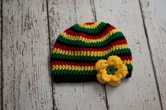 Bob Marley Hat Bob Marley Beanie MADE TO ORDER by AdorablyHooked