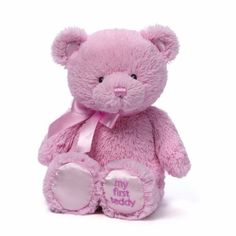 Gund My First Teddy Bear Baby Stuffed Animal, 10 inches GUND http://www.amazon.com/dp/B00IX6A5V2/ref=cm_sw_r_pi_dp_G9hUvb1FHAXDS