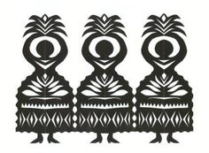 Wycinanki (vee-chee-non-kee) is the traditional Polish art of paper cutouts. It started with sheephearders cutting designs into tree bark and leather; then in the 1800's paper forms were used by peasants to decorate furniture, walls, and windows and given as gifts.