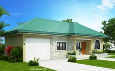 This one storey Bungalow House with 3 bedrooms is 127 square meters in floor area which can be built in a lot with 285 square meters lot area. House Floor Design, Small House Design, Single Storey House Plans, Small House Plans, House Plans 3 Bedroom, Bungalow House Plans, Model House Plan, Futuristic Home, Contemporary Architecture