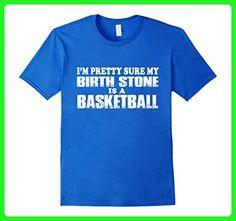 Mens Birth Stone Is A Basketball T Shirt 3XL Royal Blue - Sports shirts (*Amazon Partner-Link)