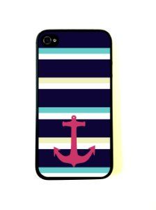 Amazon.com: Large Nautical Stripes Anchor Case for iPhone 4/4S: Cell Phones & Accessories