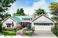 Rustic 3 Bed Ranch with Shed Dormer - 46071HC | Architectural Designs - House Plans