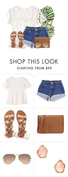 """""""About to spend the weekend in Jacksonville!"""" by annaewakefield ❤ liked on Polyvore featuring MANGO, Billabong, Tory Burch, Ray-Ban and Kendra Scott"""