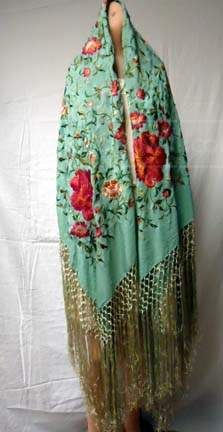shopgoodwill.com: Stunning 1920's Embroidered Silk Shawl (CL)