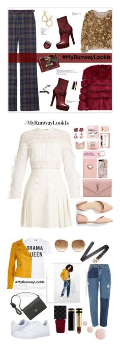"""""""Winners for What's YOUR Runway Look?"""" by polyvore ❤ liked on Polyvore featuring Gabriela Hearst, Burberry, Gucci, AINEA, Prada, Bobbi Brown Cosmetics, Chanel, mcheffer, MyRunwayLookIs and self-portrait"""