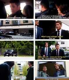 [gifset] Dean vs Sam's car.  Nothing beats Baby in the end <3 #SPN #Dean #Sam