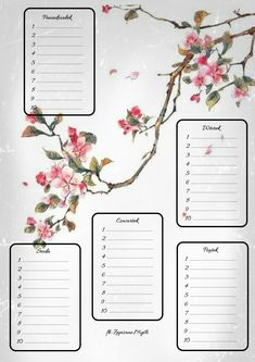 Daily Planner Printable, Free Printable Calendar, Calendar Pages, Planner Pages, Organization Bullet Journal, School Organization, School Plan, Back To School, Chemistry Tattoo