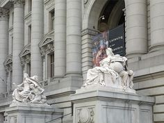 "Sculpture ""America"" and ""Europe"" at Alexander Hamilton U.S. Custom House, New York, New York"