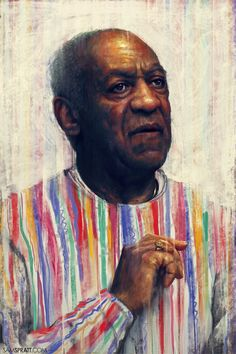 """Bill Cosby"" - Illustration by Sam Spratt It's been. Bill Cosby, Portrait Illustration, Illustration Sketches, The Cosby Show, Pop Culture Art, African American Art, Love Art, Street Art, Art Prints"