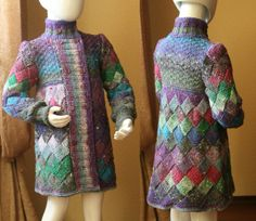 #Entrelac #Knitted #Coat