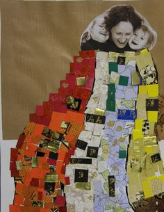 Gustav Klimt inspired - Ola 5Y - Mother's Day project #paperchips #picture #artboxatelier
