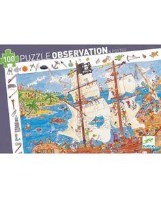 Observatiepuzzel Pirates 100st - Djeco