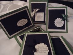 greeting cards stamped with various scriptures from the Bible.  You have a choice of colors.  Can be individual or made as a set