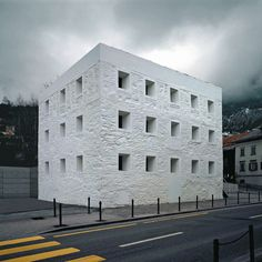 Gridded Stone Facade | Grids In Architecture
