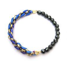 Blue Mix - Hematite Facets Bracelet