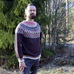 Mokka_kaarrokeneule_www Knitting Patterns, Men Sweater, Pullover, Sweaters, Cardigans, Clothes, Shopping, Jumpers, Fashion