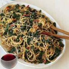 Whole Wheat Spaghetti with Anchovies and Kale