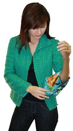 Angela Wolf quilted silk