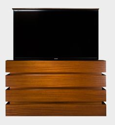 Cabinet Tronix creates customized flat screen TV lift cabinets for large TVs. See examples of our big Screen TV lift Cabinets. Tv Furniture, Cabinet Furniture, Furniture Making, Furniture Ideas, Pop Up Tv Cabinet, Hidden Tv Cabinet, Bedroom Tv Stand, Tv In Bedroom, Big Screen Tv