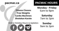 Creation of two-sided business card for a gym: Back -black and white. Hours, website, social media info