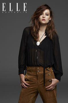 Australia's Next Top Model winner | Brittany | August 2015 Elle Australia Cover | fashionlove.com.au
