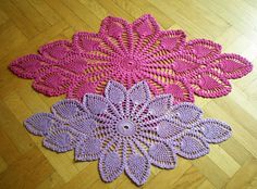Diamond Oval Pineapple Doily Free Pattern Diagram. More Patterns Like This!