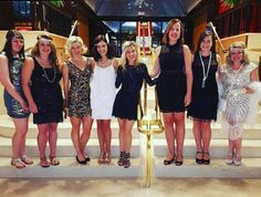 Great Gatsby themed bachelorette party. Get all of our tips on throwing the best bachelorette bash on the blog.