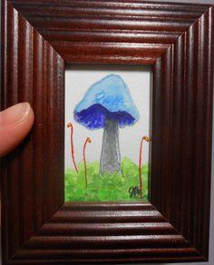 Mushroom painting original mushroom watercolor by sunshinethicket