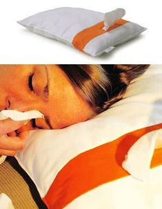 This would be such useful pillow for when I get colds and you need tissues all night!!