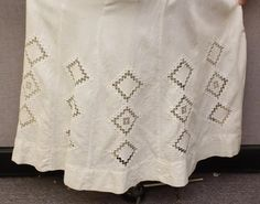 LOT: ANTIQUE DRESS - NORWEGIAN  'HARDANGER'  EMBROIDERY;  PHOTO OF SEAMSTRESS.
