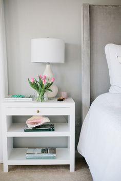Bedroom Bliss. Soft grey. Interior Designer: Jennifer Wagner Schmidt.