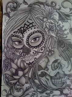 """While we're working on improving More Like This, you can help by collecting """"Day Of The Dead Sugar Skull Girl Outline"""" with similar deviations. Description from deviantart.com. I searched for this on bing.com/images"""