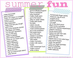 10 Organizational Printables for Summer - Just a Girl and Her Blog- Summer fun!!!