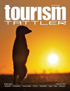 Our February cover features a meerkat (Suricata suricatta) recharging her solar-panel-like belly as the African sun rises over the semi-arid Klein Karoo scrubland of De Zeekoe farm in Oudtshoorn, South Africa (read more on pages 13 and 21 in this edi. February 2016, Conservation, Magazines, Tourism, Sunrise, Reading, Journals, Turismo, Reading Books